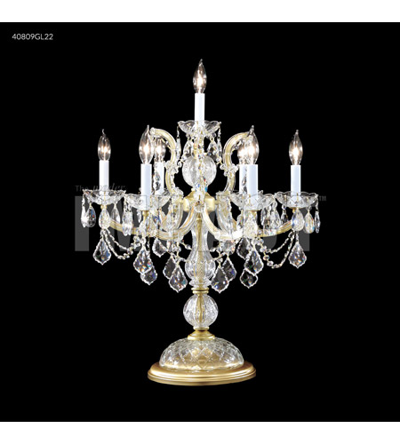 James R. Moder Crystal Table Lamps