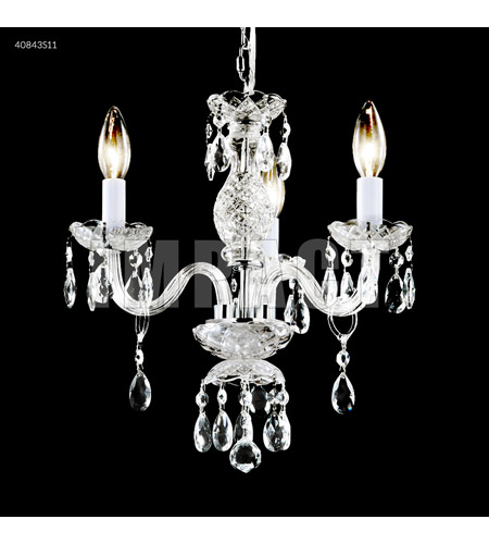 James R. Moder 40843S11 Signature 3 Light 14 inch Silver Mini Chandelier Ceiling Light photo thumbnail