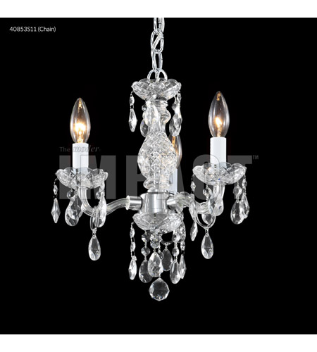 James R. Moder 40853S11 Signature 3 Light 12 inch Silver Mini Chandelier Ceiling Light photo thumbnail