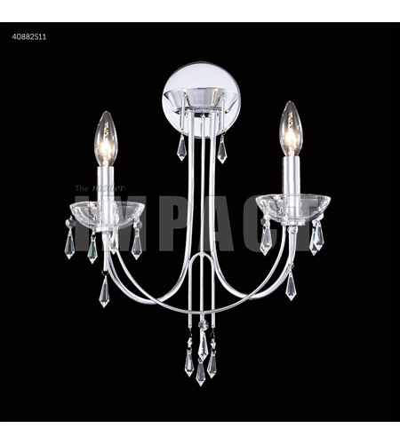 James R. Moder 40882S11 Spring Rain 2 Light Silver Wall Sconce Wall Light photo thumbnail