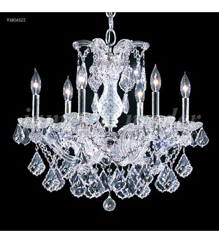 James R. Moder 91806S2GT Maria Theresa 6 Light 23 inch Silver Chandelier Ceiling Light, Grand photo thumbnail
