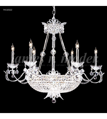James R. Moder Silver Silk Chandeliers