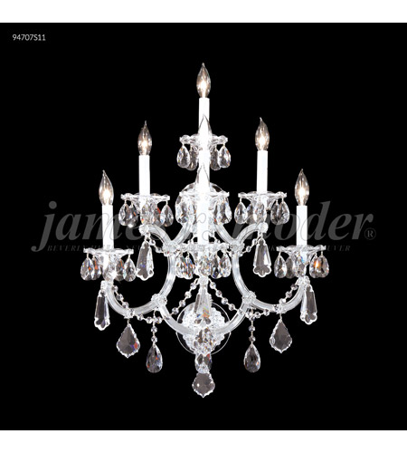 James R. Moder 94707S11 Maria Theresa 7 Light Silver Wall Sconce Wall Light, Royal photo thumbnail