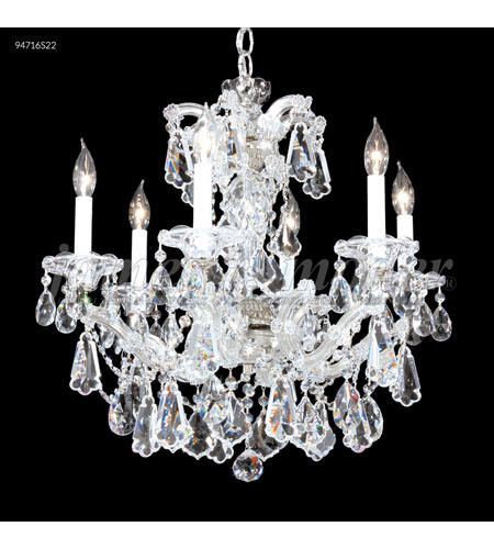 James R. Moder 94716GL00 Maria Theresa 6 Light 23 inch Gold Lustre Chandelier Ceiling Light, Royal photo thumbnail