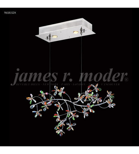 James R. Moder 96181S22 Continental Fashion 2 Light 9 inch Silver Mini Chandelier Ceiling Light, Floral photo thumbnail