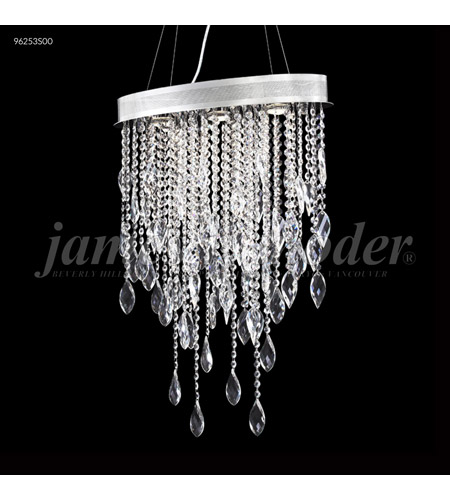 Silver Crystal Sculptured Leaf Mini Chandeliers
