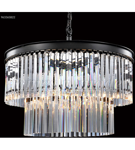 Satin Black Crystal Chandeliers