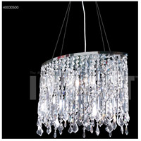 Contemporary 4 Light 8 inch Silver Mini Chandelier Ceiling Light, Oval