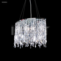 Contemporary 4 Light 8 inch Silver Chandelier Ceiling Light, Oval
