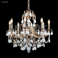 James R. Moder 40041MB00 Monaco Cast Brass Collection 8 Light 28 inch Monaco Bronze Chandelier Ceiling Light