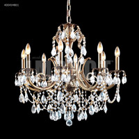 James R. Moder 40041MB11 Monaco Cast Brass Collection 8 Light 28 inch Monaco Bronze Chandelier Ceiling Light