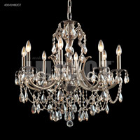 James R. Moder 40041MB2GT Monaco Cast Brass Collection 8 Light 28 inch Monaco Bronze Chandelier Ceiling Light