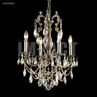 James R. Moder 40044MB2GT Monaco 4 Light 18 inch Monaco Bronze Mini Chandelier Ceiling Light