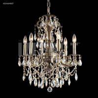 James R. Moder 40046MB0T Monaco 6 Light 23 inch Monaco Bronze Chandelier Ceiling Light