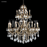 James R. Moder 40049MB00 Monaco 18 Light 39 inch Monaco Bronze Chandelier Ceiling Light