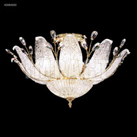 Florian 11 Light 24 inch Silver Flush Mount Ceiling Light