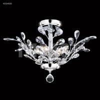 James R. Moder 40104S00 Regalia 4 Light 21 inch Silver Flush Mount Ceiling Light