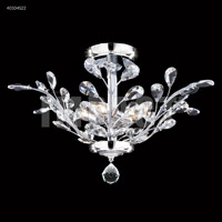 James R. Moder 40104S22 Regalia 4 Light 21 inch Silver Flush Mount Ceiling Light