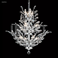 James R. Moder 40107S11 Regalia Collection 11 Light 27 inch Silver Chandelier Ceiling Light