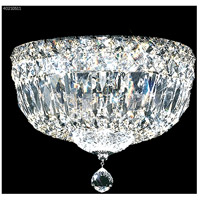 James R. Moder 40210S11 Signature 3 Light 10 inch Silver Flush Mount Ceiling Light