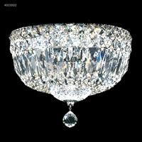 James R. Moder 40210S22 Flush Mount Collection 3 Light 10 inch Silver Flush Mount Ceiling Light