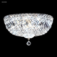 James R. Moder 40214S00 Signature 6 Light 14 inch Silver Flush Mount Ceiling Light