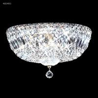James R. Moder 40214S11 Zoe 6 Light 14 inch Silver Flush Mount Ceiling Light