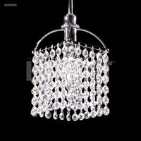 James R. Moder 40230S22 Contemporary Collection 1 Light 6 inch Silver Pendant Ceiling Light