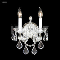 James R. Moder 40252S11 Maria Theresa Collection 2 Light Silver Wall Sconce Wall Light