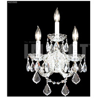 James R. Moder 40253S00 Maria Theresa 3 Light Silver Wall Sconce Wall Light