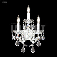 James R. Moder 40253S11 Maria Theresa Collection 3 Light Silver Wall Sconce Wall Light
