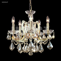 James R. Moder 40255GL0T Maria Theresa Collection 5 Light 18 inch Gold Lustre Chandelier Ceiling Light