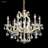 James R. Moder 40256GL0T Maria Theresa 7 Light 23 inch Gold Lustre Chandelier Ceiling Light