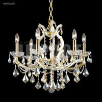 James R. Moder 40256GL2GT Maria Theresa Collection 7 Light 23 inch Gold Lustre Chandelier Ceiling Light