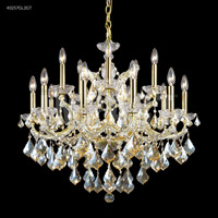 James R. Moder 40257GL2GT Maria Theresa Collection 16 Light 29 inch Gold Lustre Chandelier Ceiling Light
