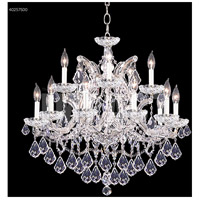James R. Moder 40257S00 Maria Theresa Collection 16 Light 29 inch Silver Chandelier Ceiling Light