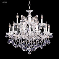 James R. Moder 40257S22 Maria Theresa Collection 16 Light 29 inch Silver Chandelier Ceiling Light