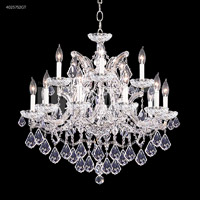 James R. Moder 40257S2GT Maria Theresa Collection 16 Light 29 inch Silver Chandelier Ceiling Light
