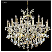 James R. Moder 40258GL0T Maria Theresa Collection 19 Light 37 inch Gold Lustre Chandelier Ceiling Light