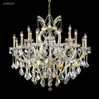 James R. Moder 40258GL2GT Maria Theresa Collection 19 Light 37 inch Gold Lustre Chandelier Ceiling Light