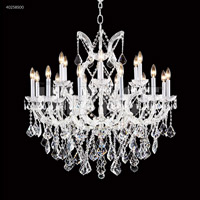 James R. Moder 40258S00 Maria Theresa Collection 19 Light 37 inch Silver Chandelier Ceiling Light