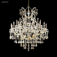 James R. Moder 40259GL2GT Maria Theresa 25 Light 46 inch Gold Lustre Entry Chandelier Ceiling Light