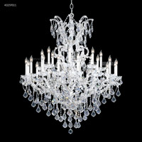 James R. Moder 40259S11 Maria Theresa 25 Light 46 inch Silver Entry Chandelier Ceiling Light
