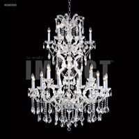 James R. Moder 40265S00 Maria Theresa 25 Light 37 inch Silver Entry Chandelier Ceiling Light