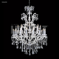James R. Moder 40266S00 Maria Theresa 25 Light 46 inch Silver Entry Chandelier Ceiling Light