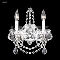 Silver Crystal Regalia Wall Sconces