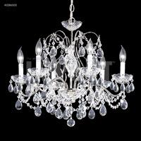 James R. Moder 40286S00 Regalia Collection 6 Light 24 inch Silver Chandelier Ceiling Light