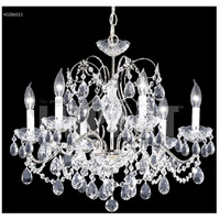 James R. Moder 40286S11 Regalia Collection 6 Light 24 inch Silver Chandelier Ceiling Light