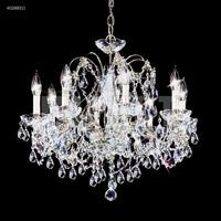 James R. Moder 40288S11 Regalia Collection 8 Light 24 inch Silver Chandelier Ceiling Light