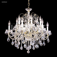 James R. Moder 40290S22 Regalia 12 Light 28 inch Silver Chandelier Ceiling Light